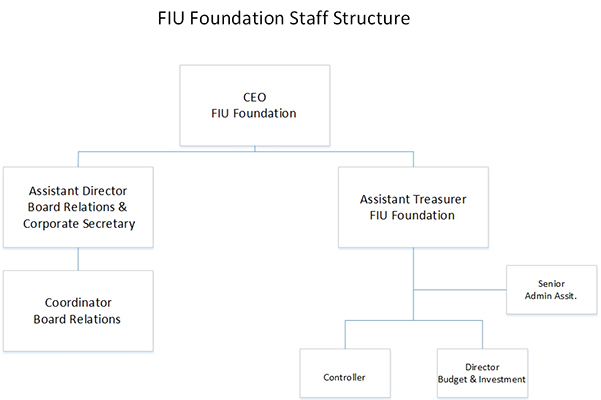 FIU Foundation Staff Structure